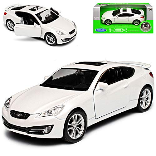 Hyundai Genesis Coupe Weiss 1. Generation Version 2008-2012 ca 1/43 1/36-1/46 Welly Modell Auto
