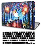 KECC Laptop Case for MacBook Pro 13' (2021/2020) w/Keyboard Cover Plastic Hard Shell A2338 M1 A2289 A2251 Touch Bar 2 in 1 Bundle (Rainy Night)