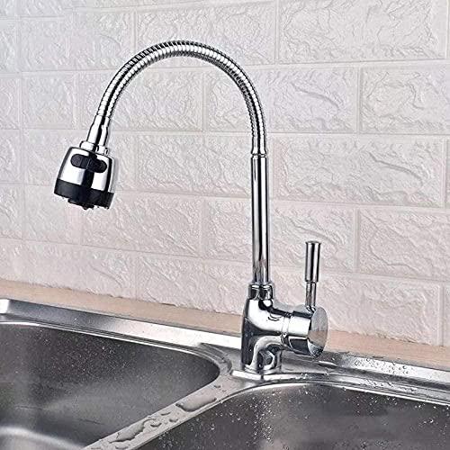 Grifo de lavabo Grifo de cocina Grifo de latón Grifo de rociador giratorio movible Sentado Libre de deformaciones Ducha de mano giratoria de 360 ° Cocina