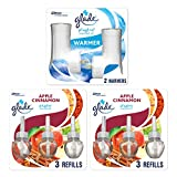 Glade PlugIns Scented Oil Starter Kit, Plug In Air Freshener and Refills, Apple