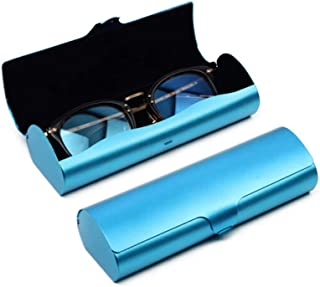 XSWY Aluminum Glasses case Boys Personality Simple Portable Lightweight Pressure Girls Eye Box Small Glasses Box Men Cool (Color : Blue)