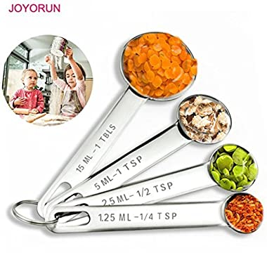 Stainless Steel Measuring Spoons for Measuring Dry and Liquid Ingredients Set of 4