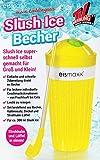 Anik-Shop Slush Ice Becher mit Strohalm-Löffel Deckel 300ml Frozen EIS Freeze...