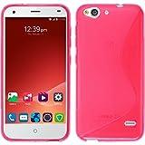 PhoneNatic Hülle für ZTE Blade S6 Hülle Silikon pink S-Style Cover Blade S6 Tasche Hülle