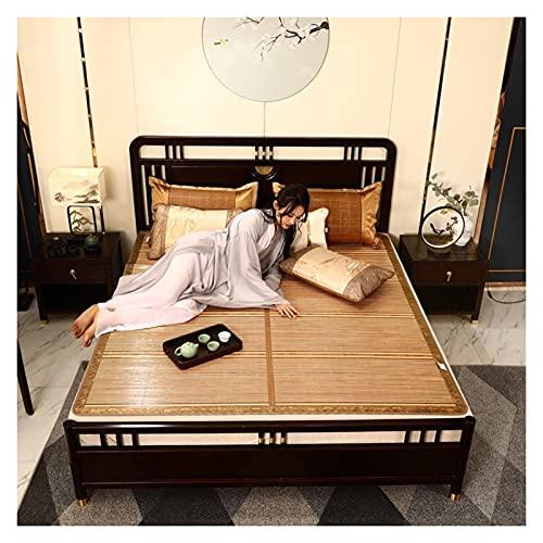 WGG Bambusmatte Sommer 1,5 M Matte Doppelseitig Faltbar Frühling Herbst Kühlschlafunterlage Bambus Bodenmatte Naturmatratzen Schlafzimmermöbel (Color : 3, Größe : 120x 190cm)