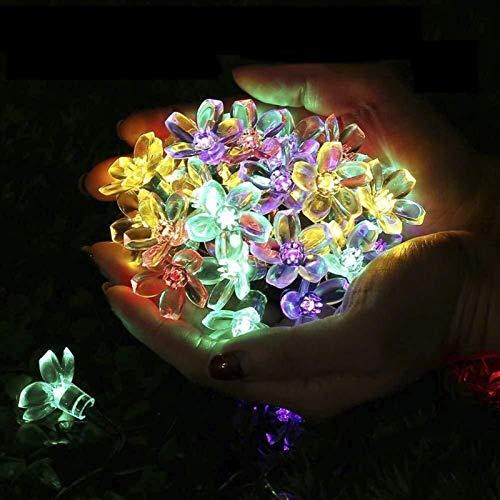 zbm-zbm Luces De Cuerdas LED Solares Luces De Hadas Interior/Al Aire Libre Jardín LED Luces Luces Dormitorio, Jardín, Fiesta, Cumpleaños, Boda Decoraciones De Fiesta De Navidad Luces de Hadas