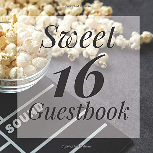 Sweet 16 Guestbook: Movie Film Night Hollywood Actor Theme - Guest Signing Book w/ Photo Space & Gift Log - 16th Birthday Party | Anniversary | ... Present for Special Sixteen Teen Memories