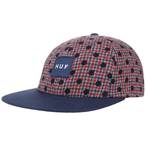 HUF Gorra Wool Box Logo Strapback de Beisbol (Talla única - Azul Oscuro)