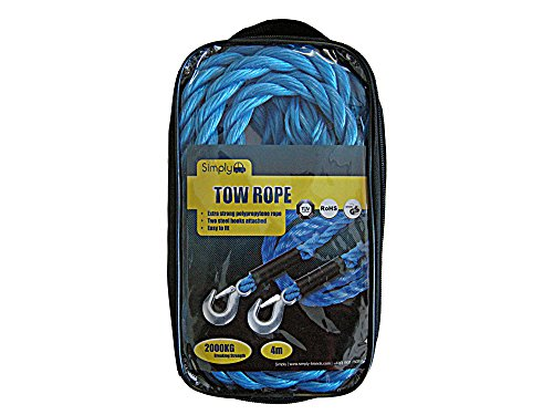 Simply Einfach TR2000Touring Abschleppseil, blau, 4m, 200g