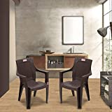 Modern, Elegant & Classy - From the dining room to the patio, this set of 4 Chairs accents any home décor. Simple and elegant, perfect for indoor and outdoor use. Its modern design could suit for different decor style. Stackable - While designing the...