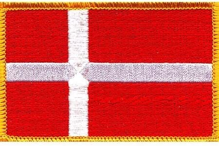 Quality inspection Denmark Flag Patch Free Shipping New