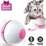Iokheira Katzenball mit LED-Licht, Ferngesteuerter Elektrisch Zwei-Farben Katzenspielzeug Ball interaktives Spielzeug für Katzen, selbstdrehender 360-Grad-Ball, wiederaufladbares interaktives Ball