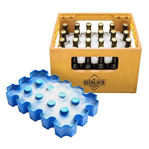 Monsterzeug Bierkasten Eisblock, Bierkühler für Bierkiste 0,33l, Eiswürfel für Bierkasten, Bier kühlen, für 24 Flaschen