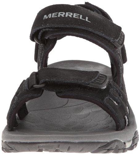 Merrell Sandales pour Homme Style Sport et extérieur - Noir - Noir, 46 EU
