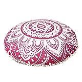 Maniona - Cojín de meditación para el suelo, 91,44 cm, diseño de mandala, color...
