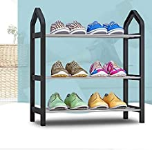 XDDDX Modern Minimalist Shoes Organizer Home Stainless Steel Tube Easy to Install Removable Super Storage Furniture Shoes ...