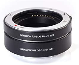 Fotga Electronic Autofocus Macro Extension Tube 10mm+16mm Set for Sony E-Mount A6500 A6400 A6300 A6000 A5100 A5000 NEX-3N NEX-3R NEX-C3 NEX-5K NEX-5 NEX-5N A7 A7R A7S II III A9 Mirrorless Camera