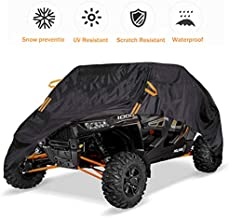 UTV Cover Waterproof Heavy Duty Black Oxford Cloth Protection Covers UTV Accessories for Polaris Ranger RZR Yamaha Kawasaki Mahindra Can-Am Defender All Weather Side by Side Cover, 4-6 Seater