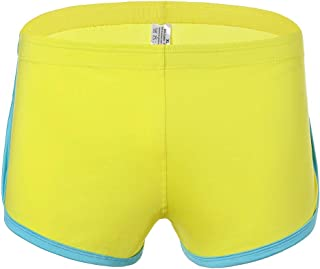 KUDICO Mens Boxer Shorts Simple Solid Color Flat-Angle Underpants Breathable Comfort Underwear Knickers Trunks Briefs for Men