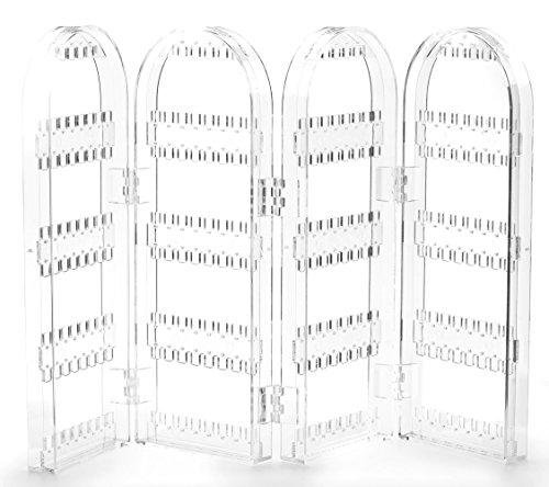 FiveSeasonStuff Chiaro Orecchini Acrilico Collana Gioielli Pieghevole 4 Arch Display Stand Organizzatore/Schermo Titolare