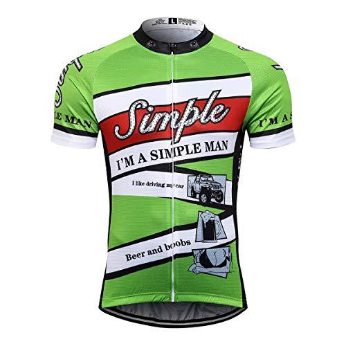 Sports Thriller Rider T.R.S Fahrradbekleidung für Herren Fahrradtrikots Kurzarm Radtrikot X-Large