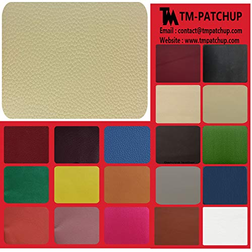 TMgroup, Leather Patches for Furniture, Genuine Leather Repair Patch kit, Peel and Stick for Couch, Sofas, car Seats, Hand Bags,Furniture, Size 6-inch x 3-inch (Medium Beige, Quantity : 1)