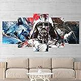 Yftnipl 5 Piezas De Pared Fotos Cuadros En Lienzo Star Space Wars Darth Vader Gaming Hd Imprimir Modern Artwork Decoración De Arte De Pared Living Room