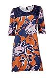 Heine - Best Connections Kleid mit Spitze orange-blau Größe 40