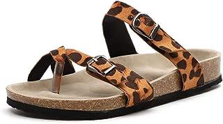 f979181fdc2 Sandalias Mujer Tacon Cuña Chanclas Cruzar Correa Verano Zapatos de Playa  Romanas Plano Mulas Hebilla Negro