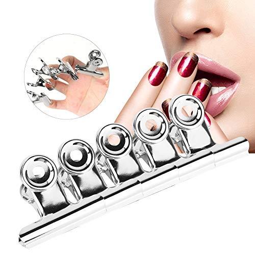 Rotekt 5pcs En Acier Inoxydable Argent C Courbe Extension D'ongle Clips Accessoires Nail Art Multifonctionnel