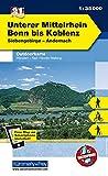 Unterer Mittelrhein Bonn to Koblenz (2012): Siebengebirge-Andernach. Wanderwege, Radwanderwege, Nordic Walking: 982