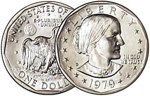 1979 P, D Susan B. Anthony Dollar 2 Coin Set Dollar Uncirculated US Mint