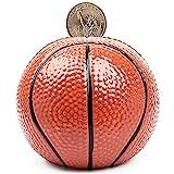 FORLONG Ceramic Piggy Bank for Boys,Basketball Sports Coin Bank, Bedroom Decor Money Box-M