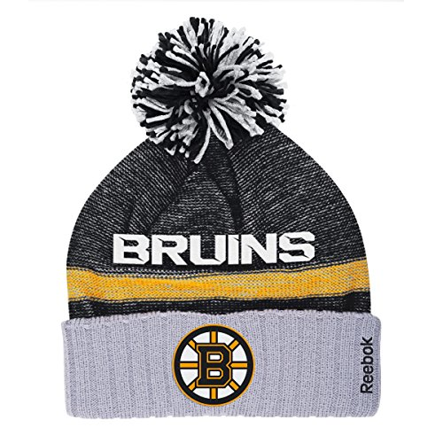 Boston Bruins Reebok NHL 2014 Center Ice Cuffed Knit Hat w/ Pom