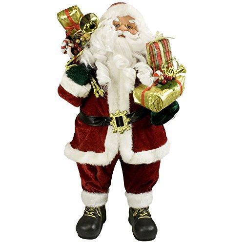 JEMIDI Hochwertiger Weihnachtsmann - in 4 verschiedenen Größen - Deko Nikolaus Santa Clause Figur Groß Weihnachts Deko Holz (Viggo, 60cm)