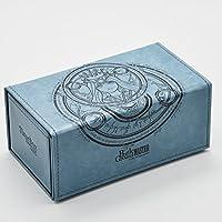 MTG デッキケース トレカ カードケース 180枚収納  レザー トレーディングカード カードデッキ ストレージ ボックス (ブルー)