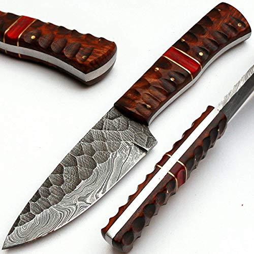 PAL 2000 MPNA 8670 Cuchillo de Hoja de Acero de Damasco Hecho a Mano P