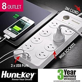 Huntkey Power Board (SAC804) with 8 sockets and 2 USB ports