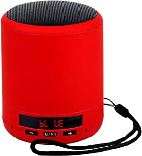 Nrpfell Portable Speaker Column Bass Sound Stereo Subwoofer Fm Radio Handsfree Tf Card USB Mp3 Player for Phone(Red)