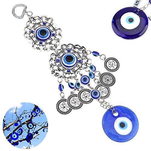 WHURGO Colgante Pared Amuleto Ojo Mal Ojo Azul Turco Ojo Turco Colgante Ojo Turco Pulsera Ojo Turco Pared Turquía Mal Ojo para Adorno Dormitorio Decoración Amuleto Colgante Pared la Suerte