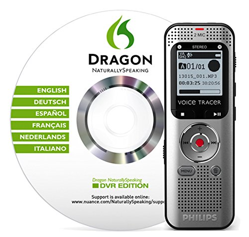 Philips DVT20050 Registratore Vocale Digitale con Dragon NaturallySpeaking