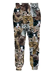 gifts for pet owners cat print pants