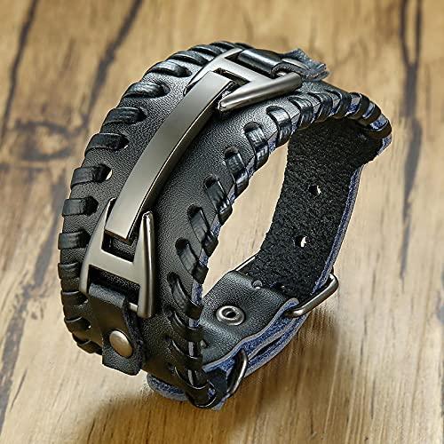 ShSnnwrl Classic style Jewellery Bracelet Chunky Bracelets For Men Rock Retro Viking Wrap Wristband Gifts For Christmas Jewelry B