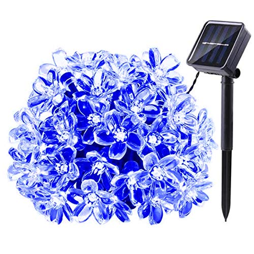 Guirnalda Luces Solares Exterior,KINGCOO Impermeable 21ft 50LED Melocotón Sakura Flor