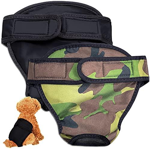 HORYDIA Hundewindeln Für Hündinnen Verstellbar Auslaufsicher Wiederverwendbare Höschen Für Hunde Läufigkeit Hygienehöschen Waschbare Unterwäsche. (AQK2, S)