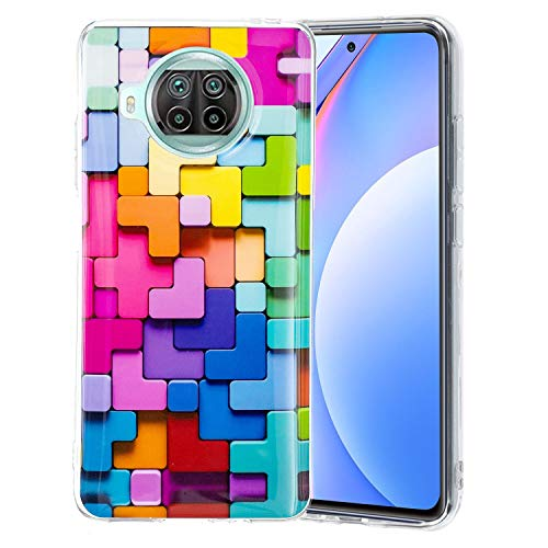 YXKJ Funda Compatible con Xiaomi Mi 10T Lite 5G, Estuche de Silicona Suave 3D Estuche Protector Anticaída de TPU - Cubo Arcoiris