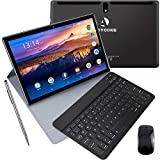 10 inch Tablet with Keyboard and Mouse, 4 GB RAM + 64 GB ROM/256GB Expansion Quad-Core Android 9.0 Tablets WiFi Dual SIM 4G and TF Card Slot 8000mAh Type-C Bluetooth OTG Android Tablet 10 inch (Black)