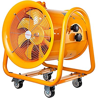 Mophorn Explosion Proof Fan, 16inch Utility Blower Fan 1.1KW 110V Portable Ventilator Explosion Proof Fan 60Hz 3450rpm Ventilation Fan for Extraction Ventilation in Potentially Explosive Environments