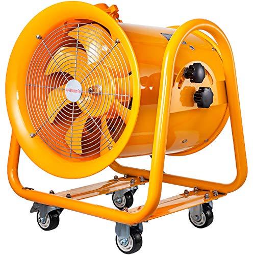 VEVOR Ventilador Industrial Extractor de Grado ATEX de 16 Pulgadas 1100W Ventilador a Prueba de Explosión Ampliamente Utilizado para Ventilación Ventilador de flujo