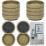 Tazas de fieltro para piso de 4 cm o 6 cm, redondas, de fieltro, para muebles de silla, 8 piezas